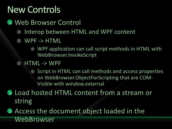 What Is New In Wpf 3 5 Sp1