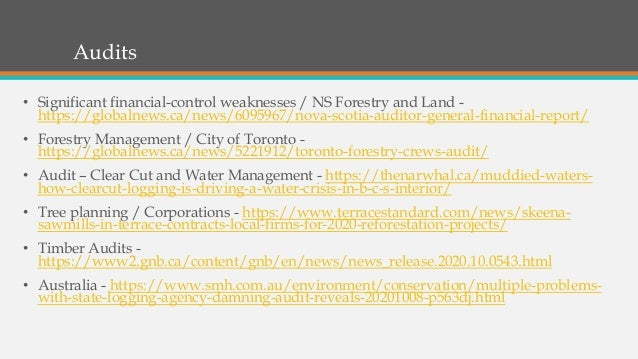 Audits • Significant financial-control weaknesses / NS Forestry and Land - https://globalnews.ca/news/6095967/nova-scotia-...