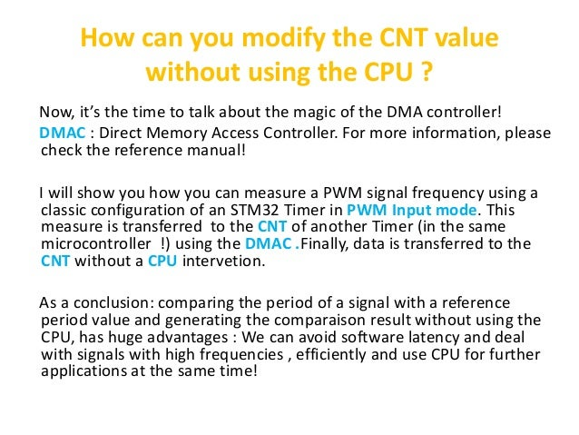 What isn't told about timers in stm32 application