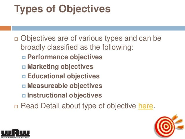 3 types of objectives