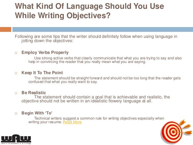 High Quality SlideShare Idea How To Write An Objective