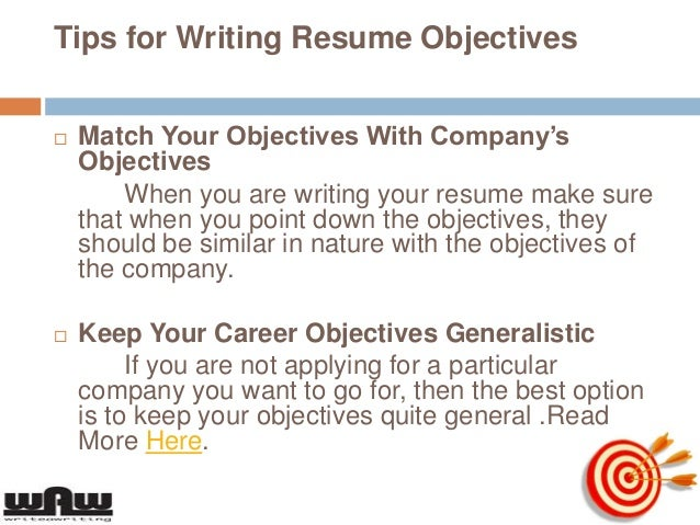how to write an objective