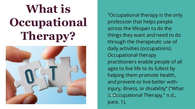 What Is Occupational Therapy Inservice