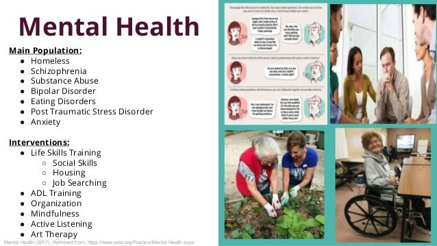 Mental Health Occupational Therapy