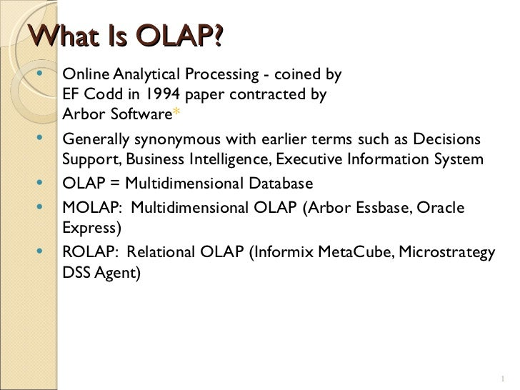 What is OLAP -Data Warehouse Concepts - IT Online Training