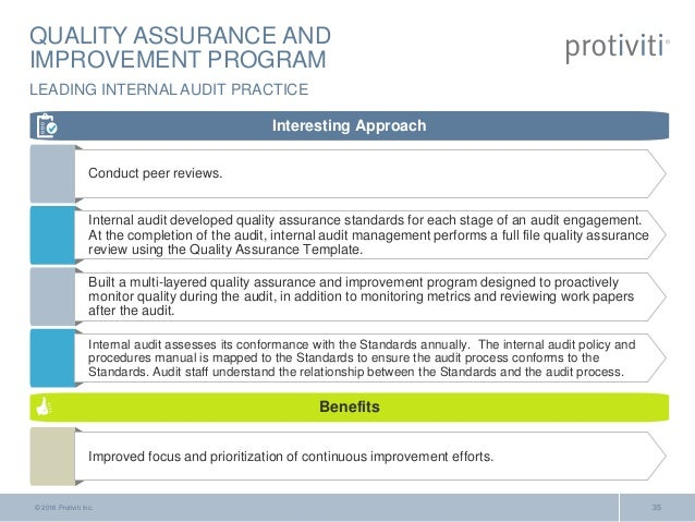 What 39 s on the internal audit horizon for Quality assurance metrics template