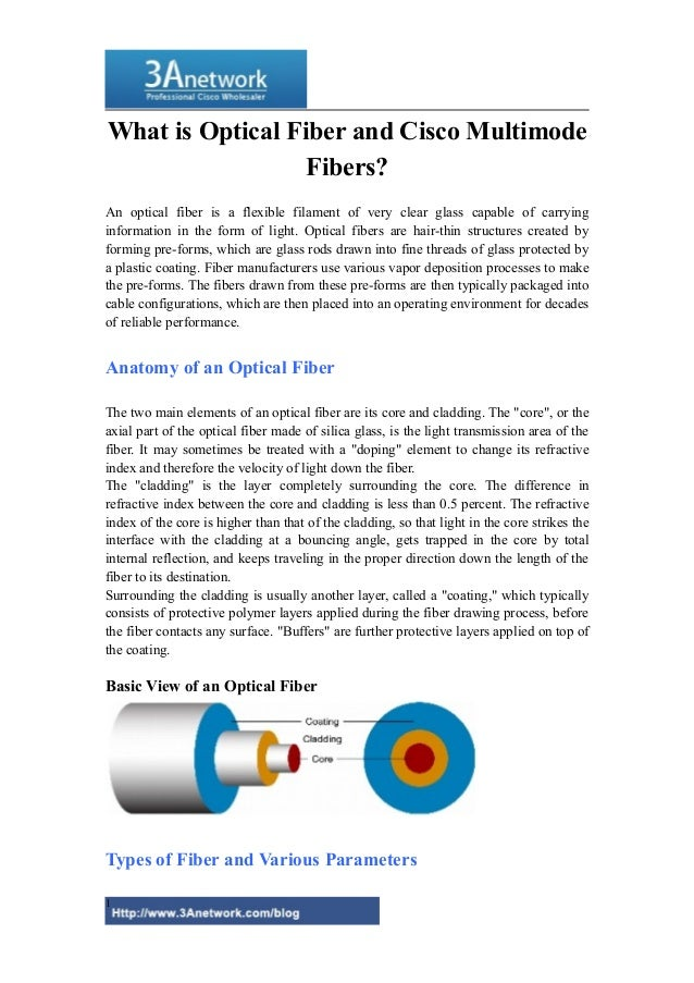 What is Optical Fiber and Cisco Multimode Fibers? An optical fiber is a flexible filament of very clear glass capable of c...