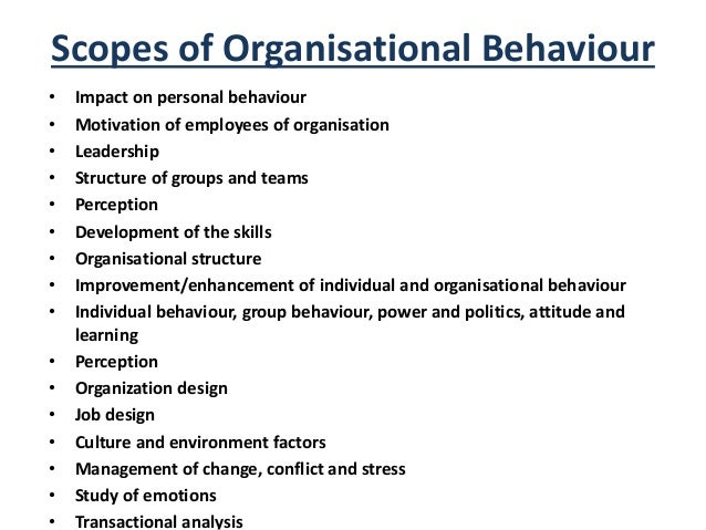 organisational behavior taking motivation Motivation can be described as the internal force that impacts the direction, intensity, and endurance of a person's voluntary choice of behavior it consists of − motivation is an internal feeling, that is, it defines the psychological state of a person it is a continuous process and we should .