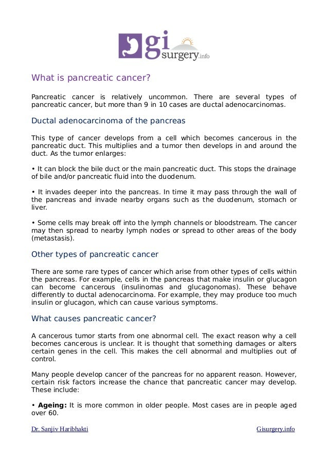 Pancreatic What Is What Cancer Is