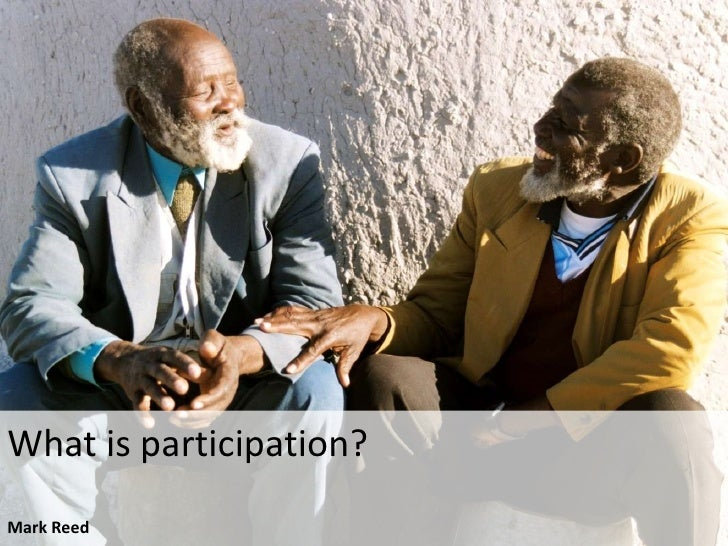 What is participation?Mark Reed<br />