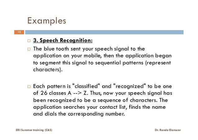 What is pattern_recognition (lecture 1 of 6)