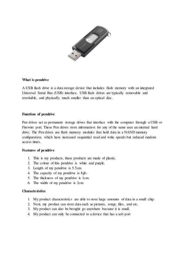 What is pendrive????