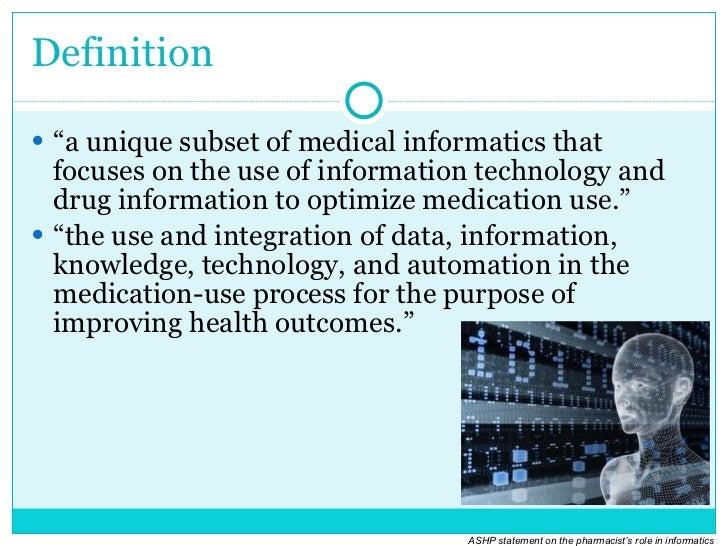 what is pharmacy informatics - Drug Information Pharmacist