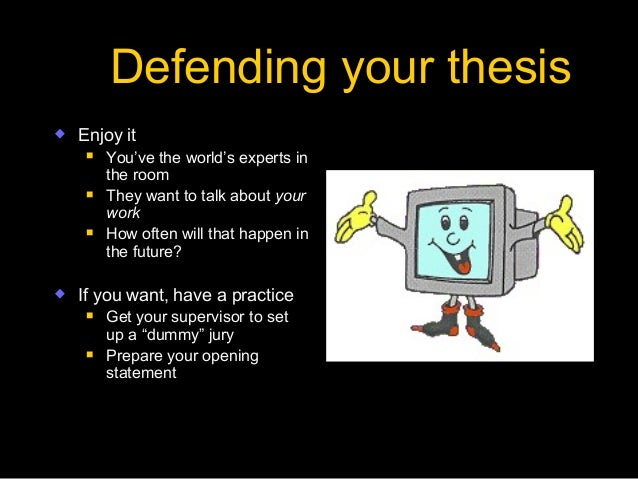 Writing a good thesis viva questions