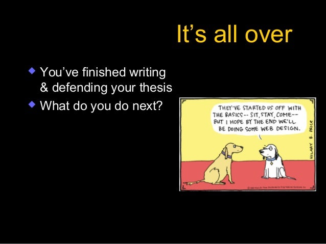 Defend thesis masters