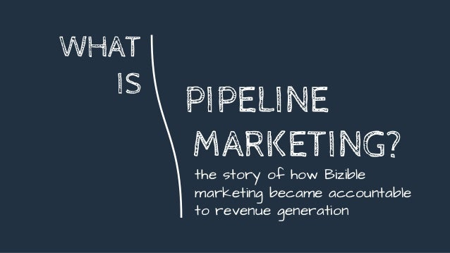 WHAT IS the story of how Bizible marketing became accountable to revenue generation PIPELINE MARKETING?