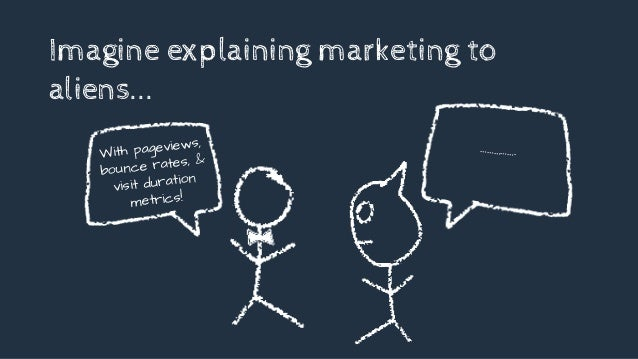 With pageviews, bounce rates, & visit duration metrics! Imagine explaining marketing to aliens... …………….