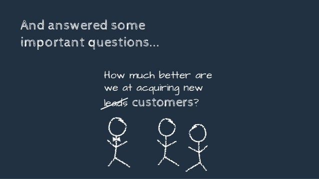 And answered some important questions... How much better are we at acquiring new leads customers?