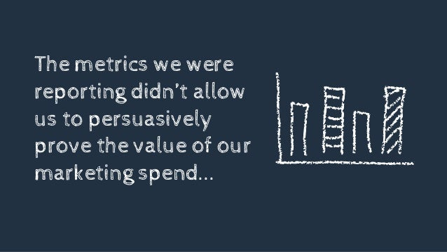 The metrics we were reporting didn't allow us to persuasively prove the value of our marketing spend...