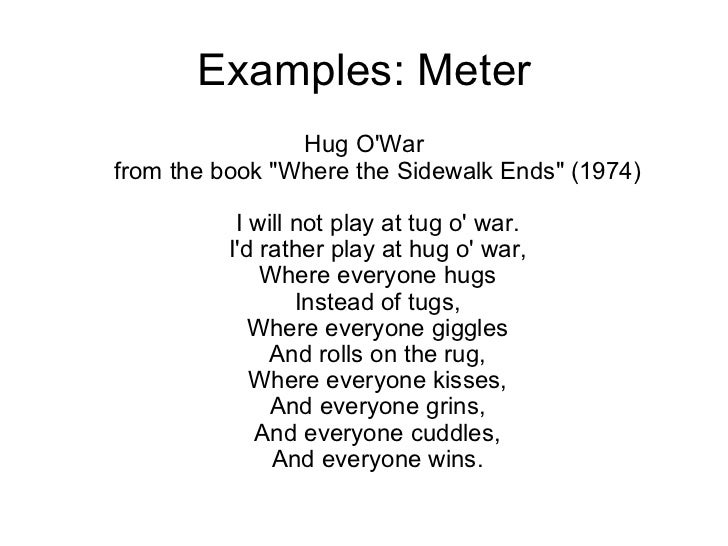 Meter in poetry middle school