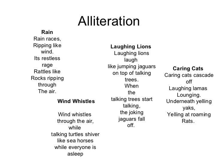 alliteration wirkung englisch