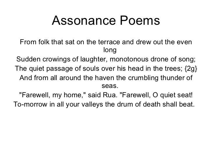Assonance Poem Examples