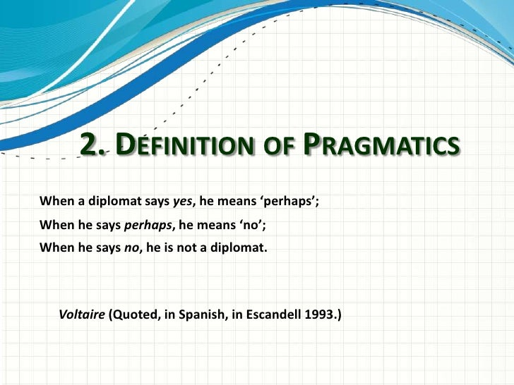 what is pragmatics