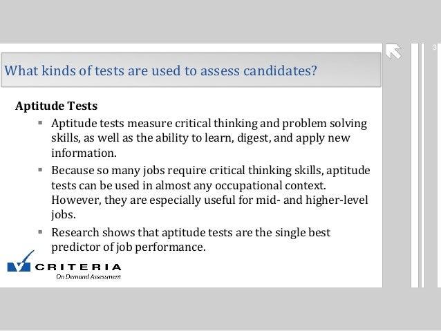 psychometric job questions Test Partnership