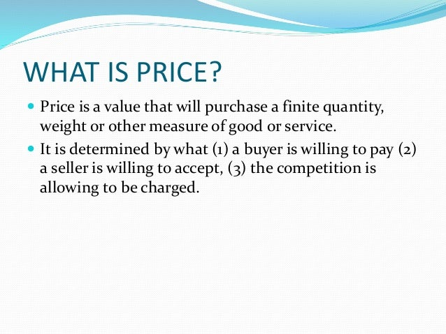 Pricing Strategy Slide 2