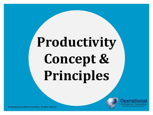 © Operational Excellence Consulting. All rights reserved. Productivity Concept & Principles