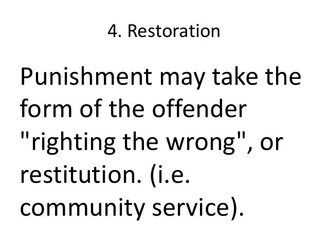 what is the objective of punishment in the criminal justice system Objectives of sentencing within england and wales in the criminal justice system as there have punishment given from the criminal justice system is.