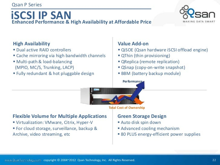 Qsan P SeriesiSCSIPerformance & High Availability at Affordable PriceEnhanced         IP SANHigh Availability             ...