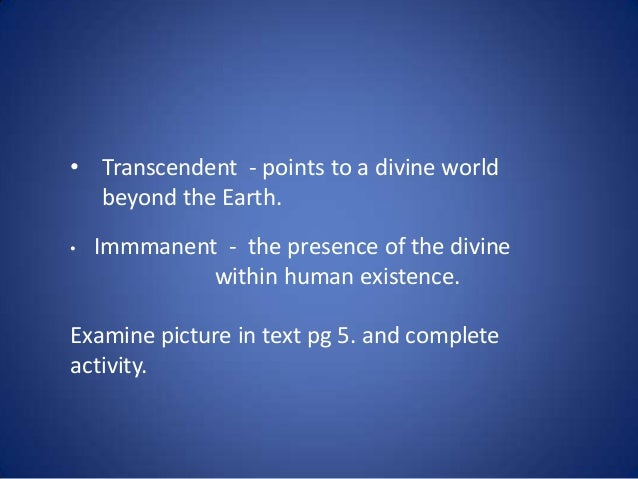 Existence of a Transcendent Dimension