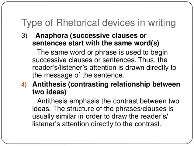different types of rhetorical devices