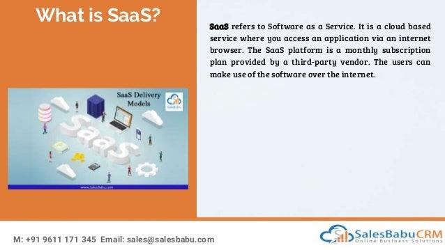 What is SaaS? Slide 2