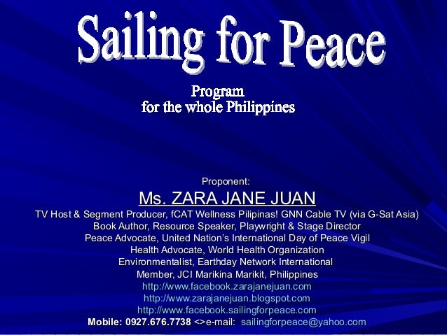 Proponent:Proponent: Ms. ZARA JANE JUANMs. ZARA JANE JUAN TV Host & Segment Producer, fCAT Wellness Pilipinas! GNN Cable T...