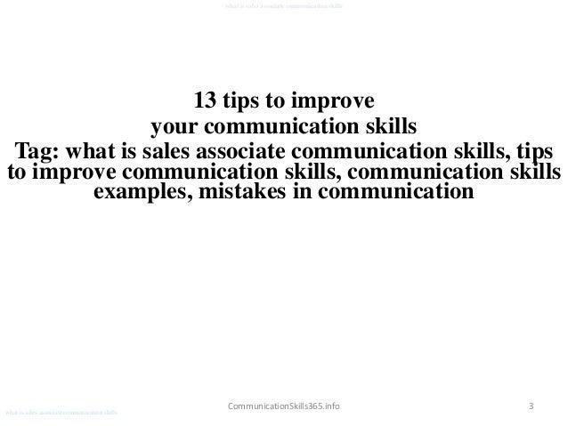 skills as a sales associate