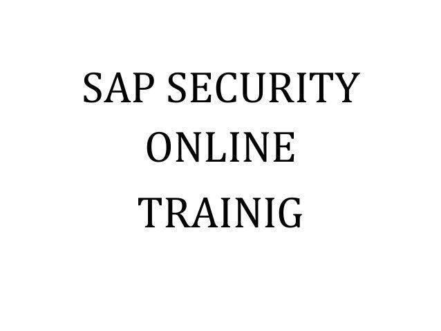 SAP SECURITY ONLINE TRAINIG