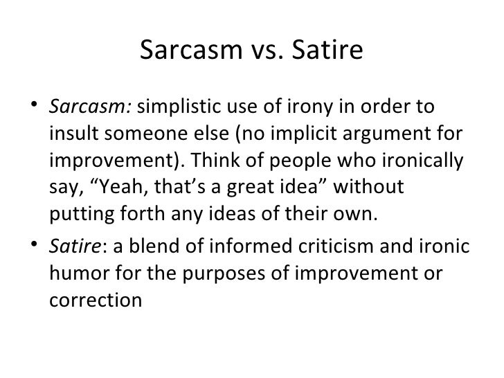 example of satirical essay