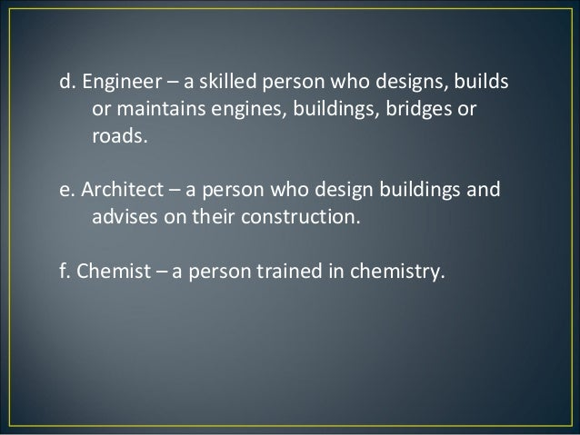 A Person Who Designs Builds And Maintains Buildings