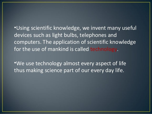 importance of science in our life