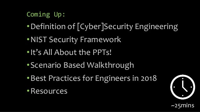 Cyber Scotland Connect: What is Security Engineering? Slide 3