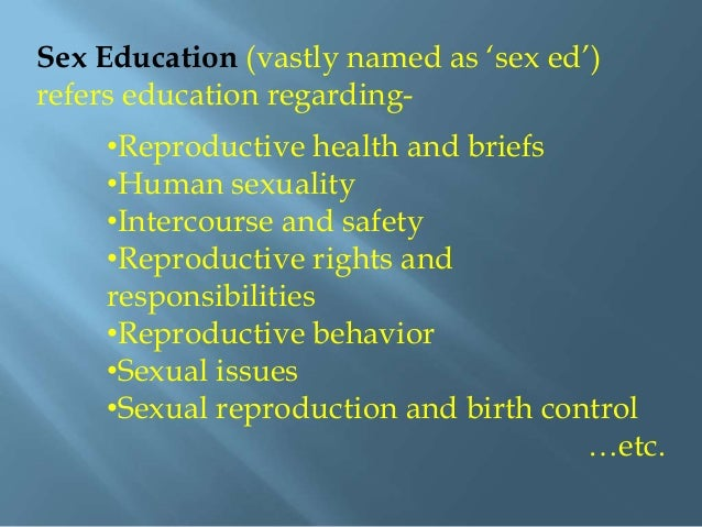 What Is Sexual Education