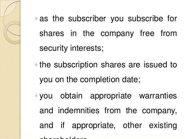 What Is Share Subscription Agreement