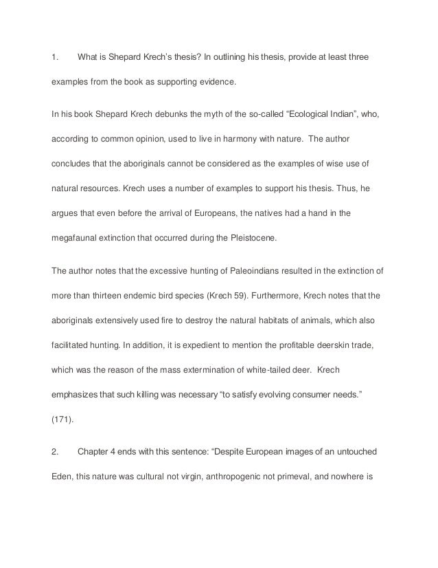 what is shepard krech sample paper essay