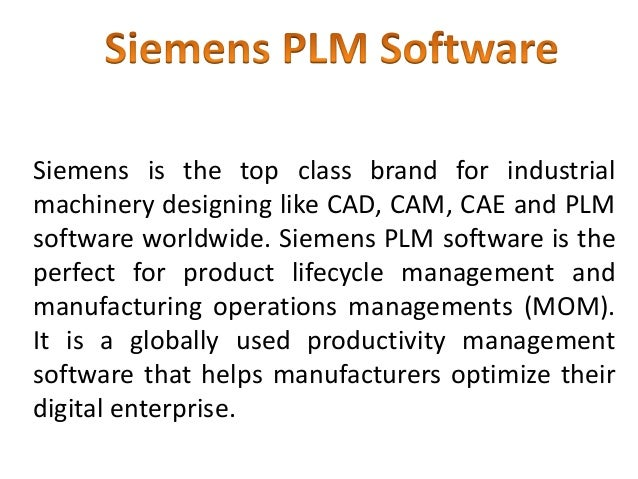 Siemens is the top class brand for industrial machinery designing like CAD, CAM, CAE and PLM software worldwide. Siemens P...