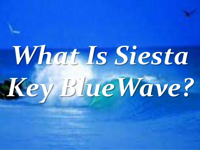 What Is Siesta Key BlueWave?