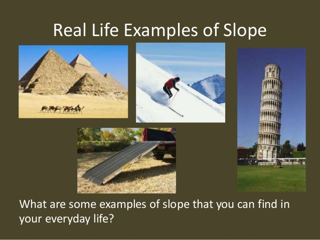 slope intercept form real world examples  What is Slope?
