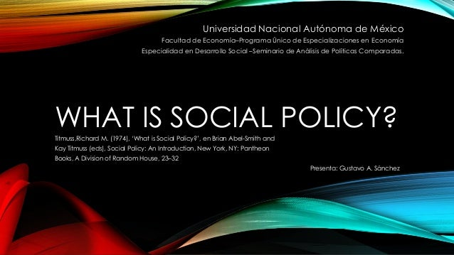 what is social policy The economist offers authoritative insight and opinion on international news, politics, business, finance, science, technology and the connections between them.