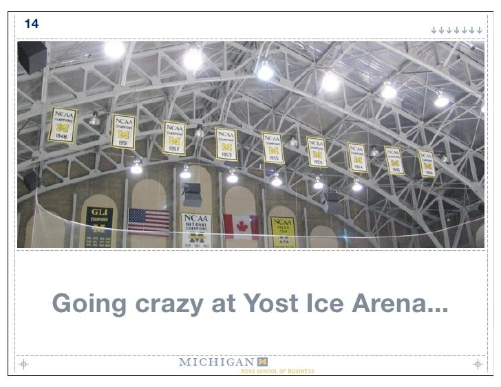 14          Going crazy at Yost Ice Arena...